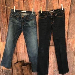 J Brand Jeans Cigarette & Bootleg -2 Pairs